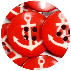Botão Âncora 278911006 - Vermelho