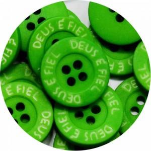 Botão Deus é Fiel - Verde