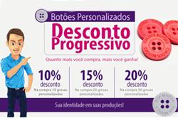 Promoção: Desconto Progressivo para Botões Personalizados